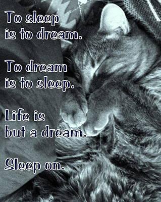 Sleep On Poster