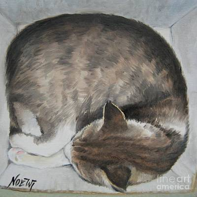Poster featuring the painting Sleeping Kitty by Jindra Noewi