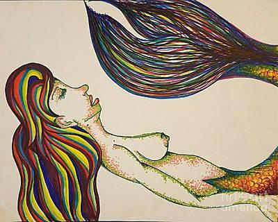 Sleeping Mermaid Poster by Alexis Rockway