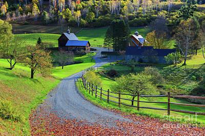 Sleepy Hollow Farm, Woodstock, Vermont Poster by Henk Meijer Photography