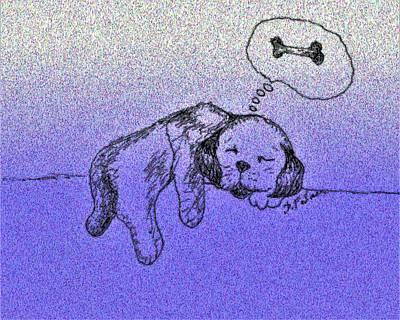 Sleepy Puppy Dreams Poster