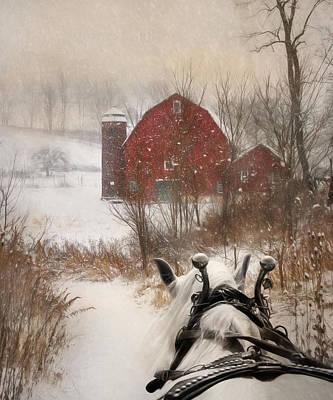 Sleigh Ride Poster by Lori Deiter
