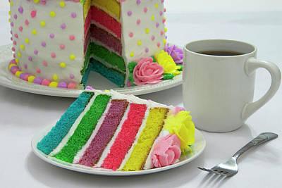 Slice Of Rainbow Cake Poster