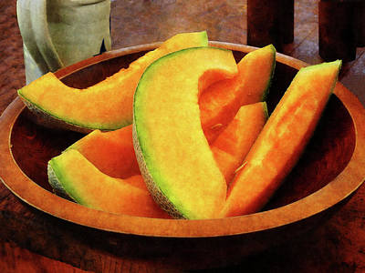 Slices Of Cantaloupe Poster by Susan Savad