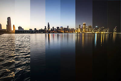 Slices Of The Chicago Skyline Poster by Sven Brogren