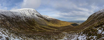 Slieve Commedagh And Slieve Donard Panorama From The Assent  Poster