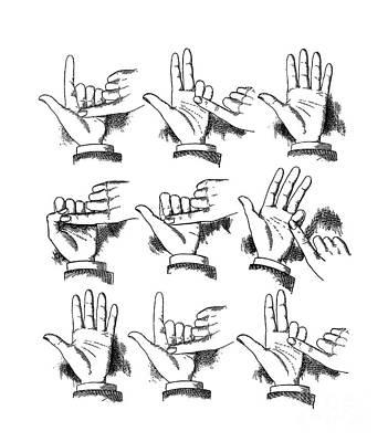 Slight Of Hand Poster by Edward Fielding