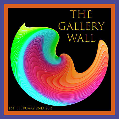 Poster featuring the photograph Slinky Dove Of Peace-the Gallery Wall Logo by Wendy Wilton