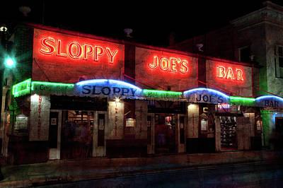 Sloppy Joes Bar Poster by John Stephens