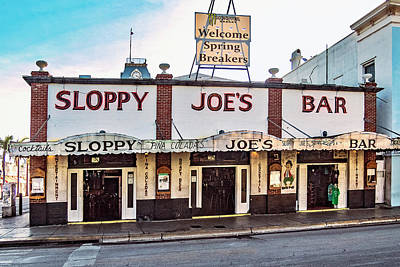 Poster featuring the photograph Sloppy Joe's Bar - Key West by Bob Slitzan