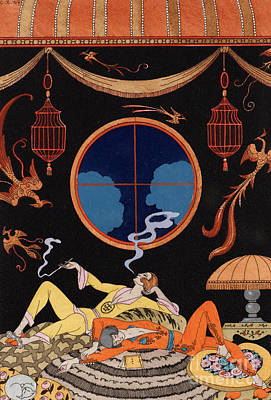 Sloth Poster by Georges Barbier