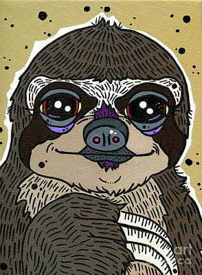 Sloth Poster by Nicole Wilson