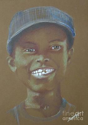 Small Boy, Big Grin -- Retro Portrait Of Black Boy Poster by Jayne Somogy