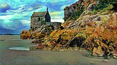 Small Chapel At The Mont Saint Michel Abbey Poster by Russ Harris
