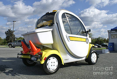 Small Electric Car For Traffic Poster