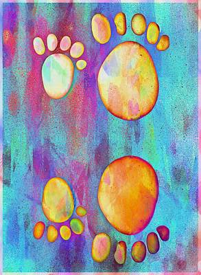 Small Feet And Big Feet 9 Poster by Jean Francois Gil