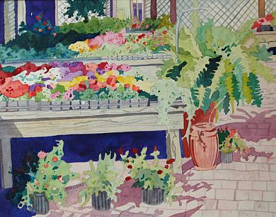 Small Garden Scene Poster