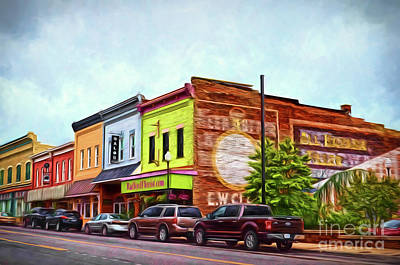 Small Town America - Main Street In Radford Virginia Poster