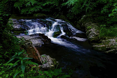 Small Waterfall  Poster by Elijah Knight