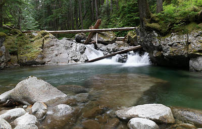 Small Waterfall On Deception Creek Poster by Jeff Swan