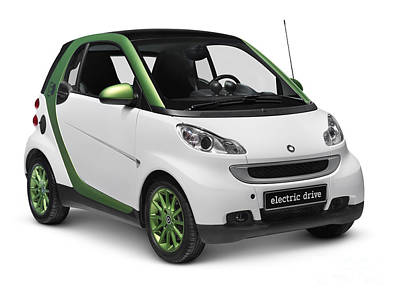 Smart Fortwo Electric Drive Poster by Oleksiy Maksymenko
