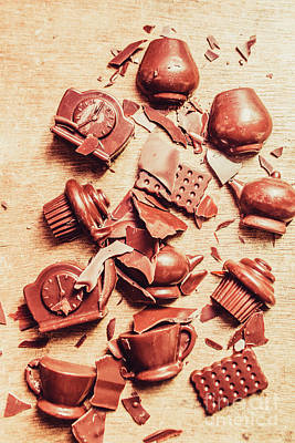 Smashing Chocolate Fondue Party Poster