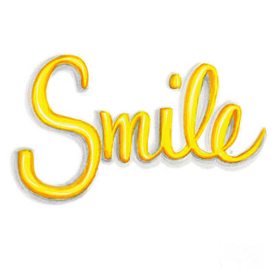 Smile Poster by Cindy Garber Iverson