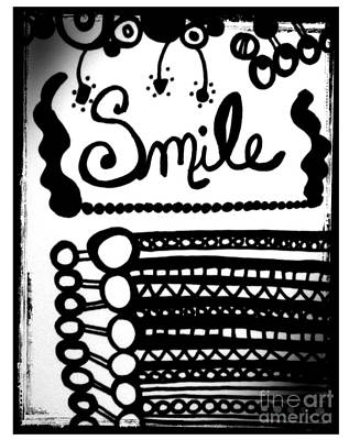 Poster featuring the drawing Smile by Rachel Maynard