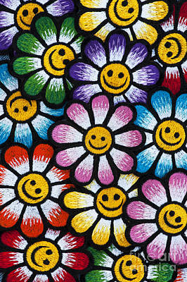 Smiley Flowers Poster