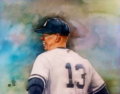 Smiling A-rod Poster by Nigel Wynter