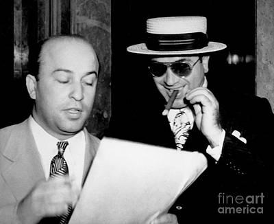 Smiling Al Capone Poster by Jon Neidert