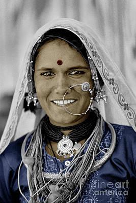 Smiling Banjari Woman - Pushkar, India Poster by Craig Lovell