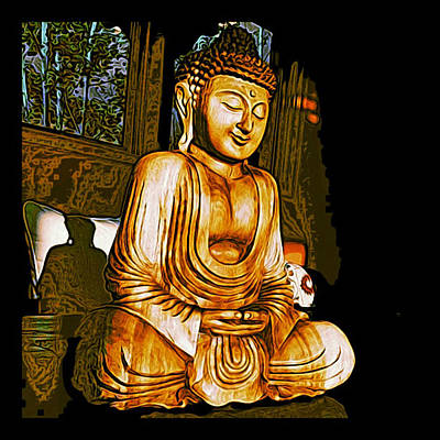 Poster featuring the photograph Smiling Buddha by Paul Cutright