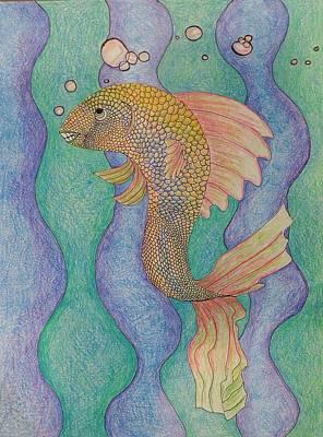 Smiling Fish  Poster by Clara Brayton