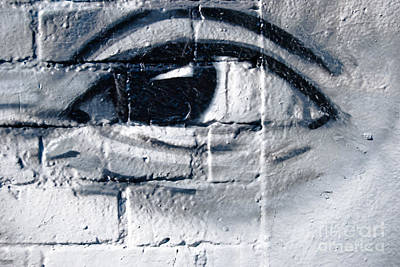 Poster featuring the painting Smiling Graffiti Eye by Yurix Sardinelly