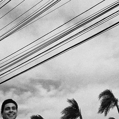 Smiling Palm Tree  #head #portrait Poster by Rafa Rivas