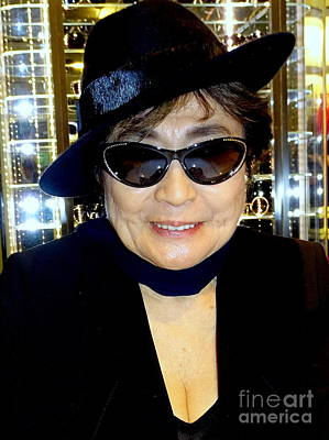 Smiling Yoko Poster by Ed Weidman