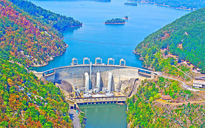 Smith Mountain Lake Dam Poster by The American Shutterbug Society