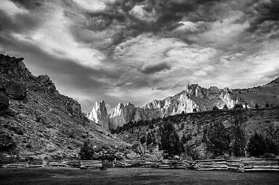 Smith Rock Bw Poster
