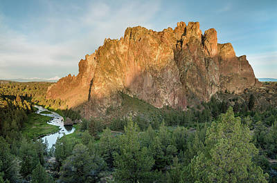 Poster featuring the photograph Smith Rock First Light by Greg Nyquist