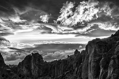 Smith Rock Skies Poster