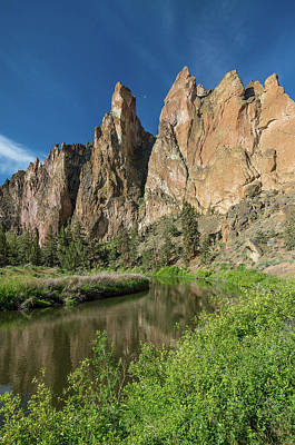 Poster featuring the photograph Smith Rock Spires by Greg Nyquist