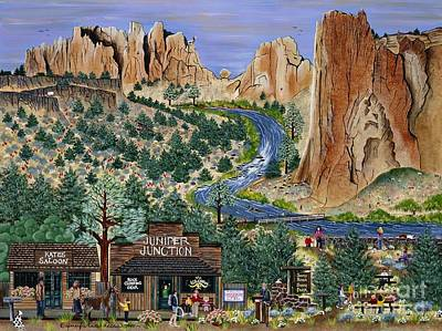 Smith Rock State Park Poster by Jennifer Lake