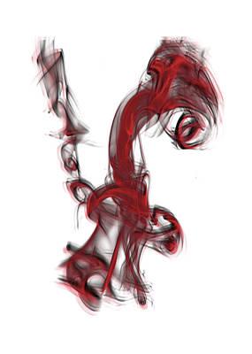 Smoke 01 Red Poster