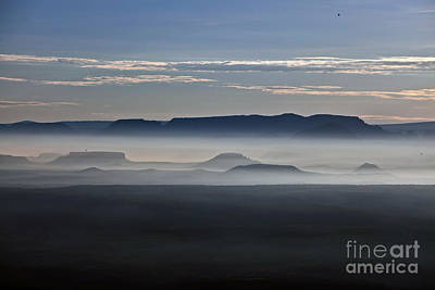 Poster featuring the photograph Smoke From Wildfires After Sunrise In The Verde Valley by Ron Chilston