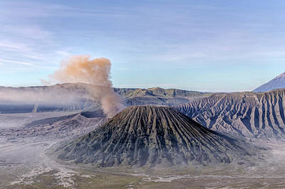 smoke over Mount Bromo - Java Poster by Joana Kruse