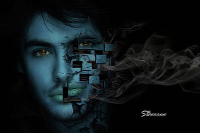 Smoke Poster by Surreal Photomanipulation