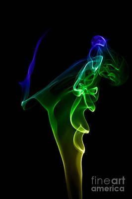 Poster featuring the photograph smoke XIV by Joerg Lingnau