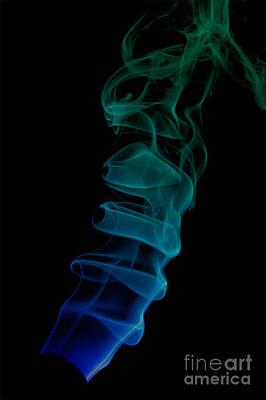 Poster featuring the photograph smoke XIX ex by Joerg Lingnau