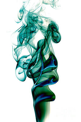 Poster featuring the photograph smoke XXIII by Joerg Lingnau